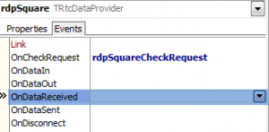 OnCheckRequest Event for RtcDataProvider component